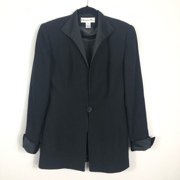Vintage Christian Dior Black blazer single button